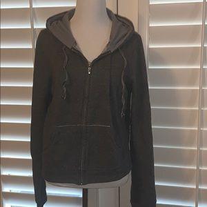Victoria's Secret gray fleece zip front hoodie